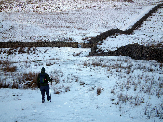 Heading towards the gate at Fell Close