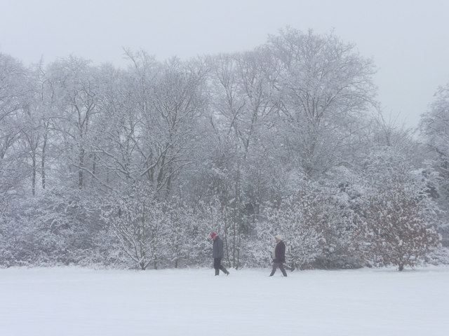 Walkers in Trent Park, London  N14