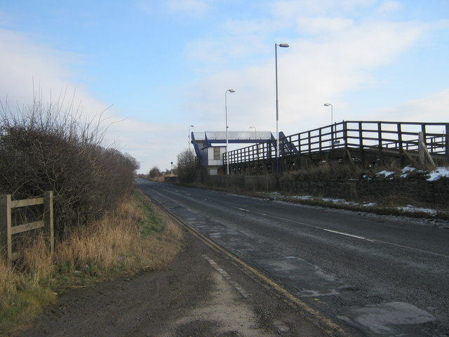 Footbridge over railway at Teeside Airport Halt