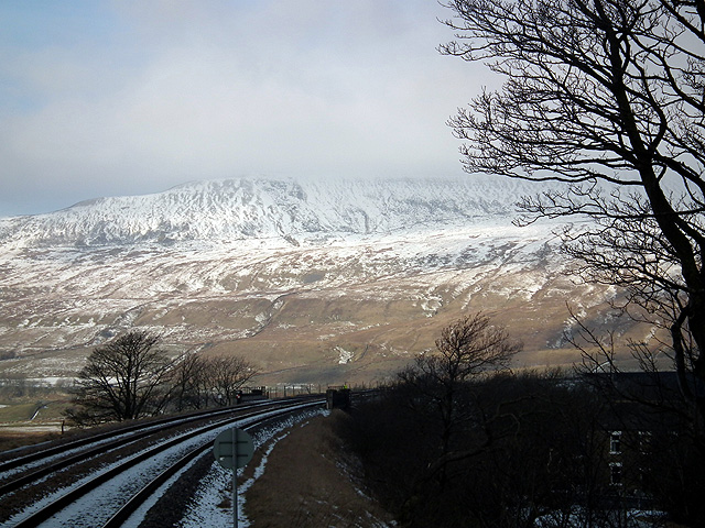 A view towards Whernside from Ribblehead Station