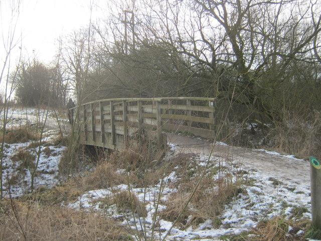 Footbridge over Coatham Beck in Coatham Wood