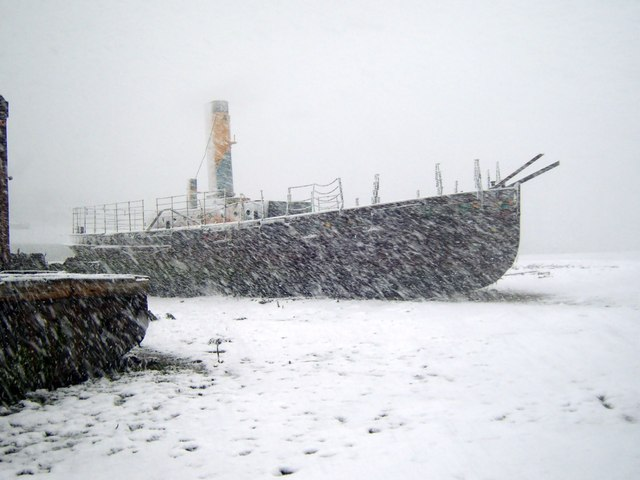 Vadne in snow, April 2008
