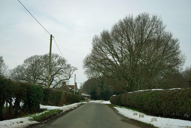 Highlands Lane nearing Whitesmith Lane