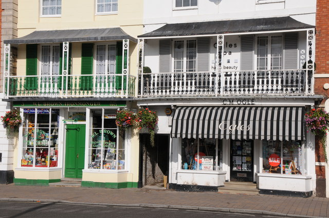 Shop fronts in Pershore