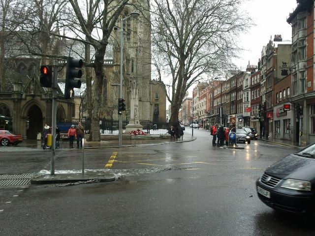 Church at the end of Kensington High Street