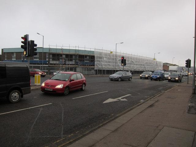 Demolition in progress, Newmarket Road