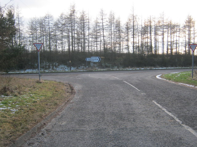 Road from Urlay Nook joining the A67