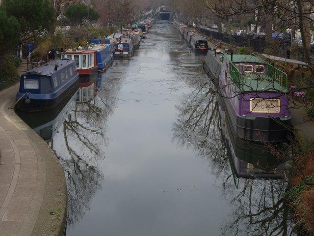 Regents Canal from Warwick Avenue bridge