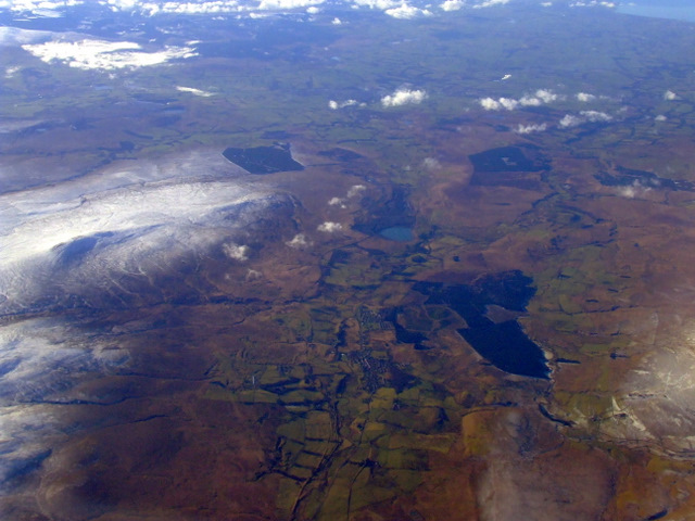 Muirkirk from the air