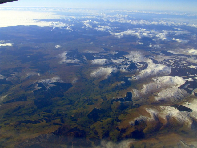 The Southern Uplands from the air