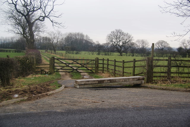 Concrete slabs across the farm track