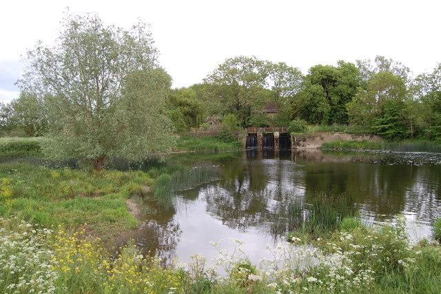 Sluice gates Fiddleford Mill