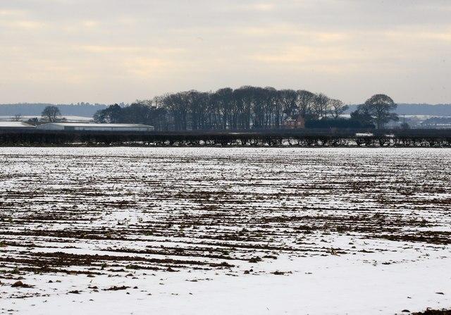 Little Morton farm across the fields