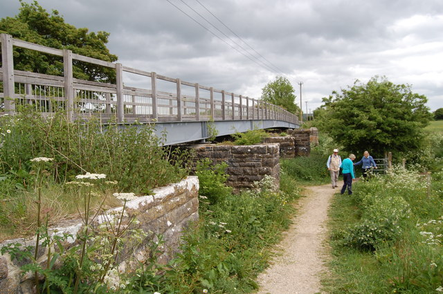 Foot and cycleway bridge over river Stour