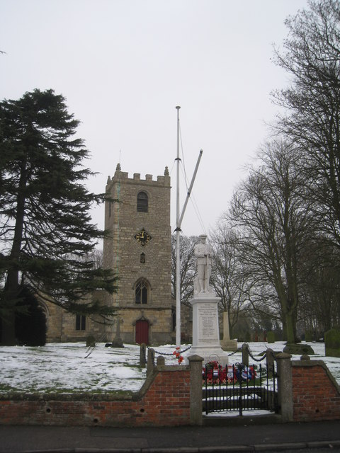 St. Mary's church and the War Memorial