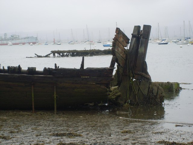 """Stern section of """"Whip"""" after storm damage"""