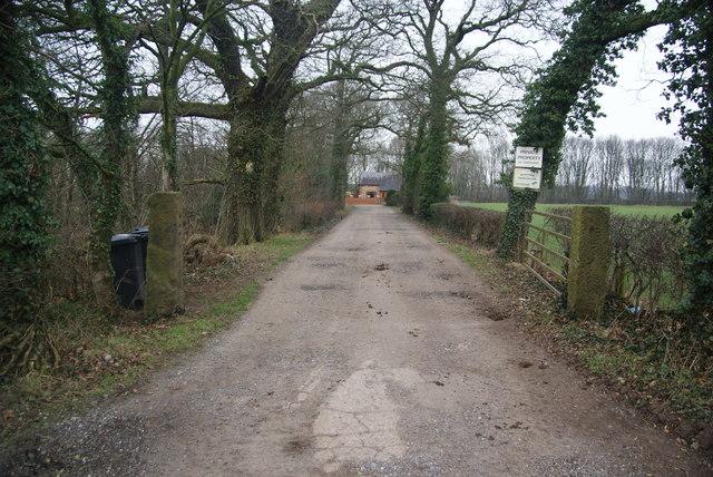 Track to Cuerdale Hall Farm