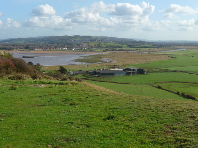 Brean Down - Brean Farm From Above