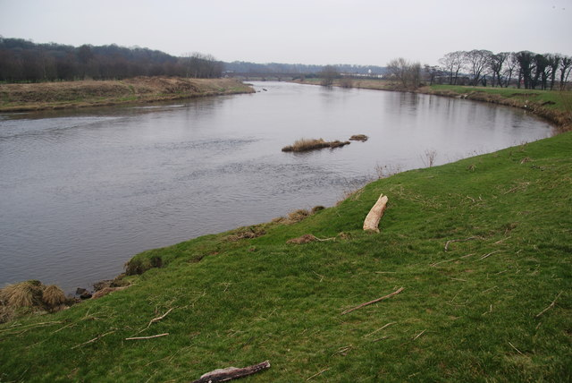 The River Ribble by Cuerdale Hall Farm