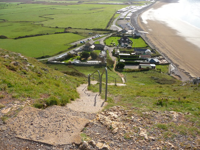 Brean Down - Top Of The Steps