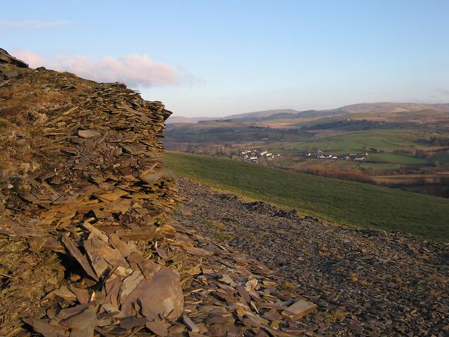Ysbyty Ystwyth from the edge of Coed Craigyrogof