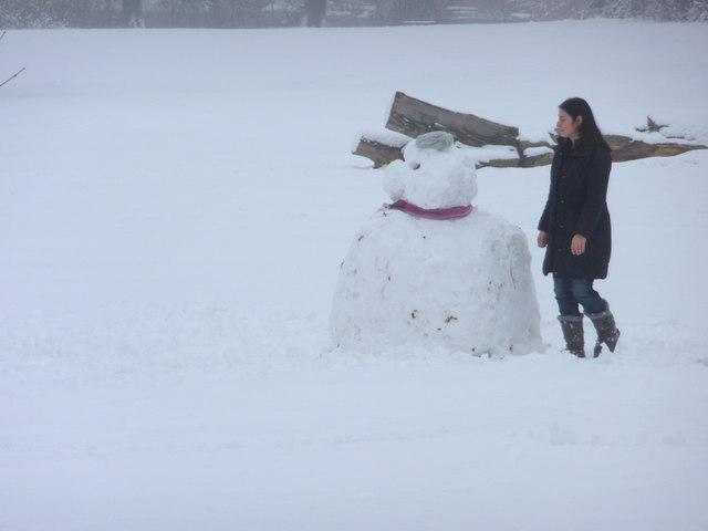 Snowman, Oakwood Park, London N14