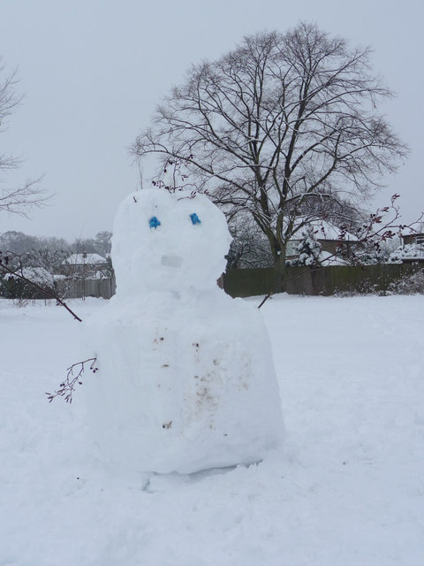 Snowman, Oakwood Park, London N14