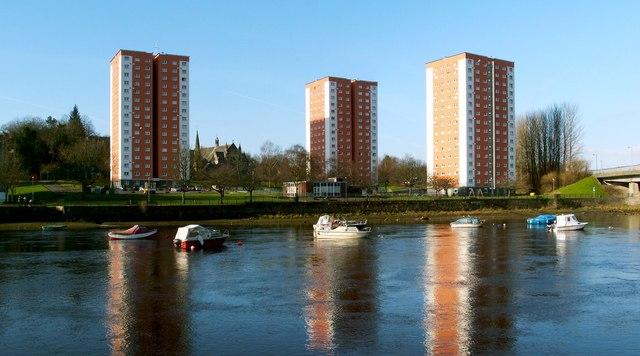 The high flats at West Bridgend