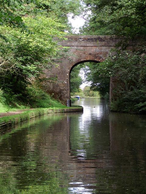 Castle Cutting Bridge south of Gnosall, Staffordshire