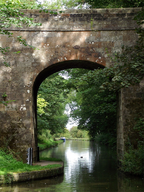 Shropshire Union Canal at Castle Cutting Bridge near Gnosall