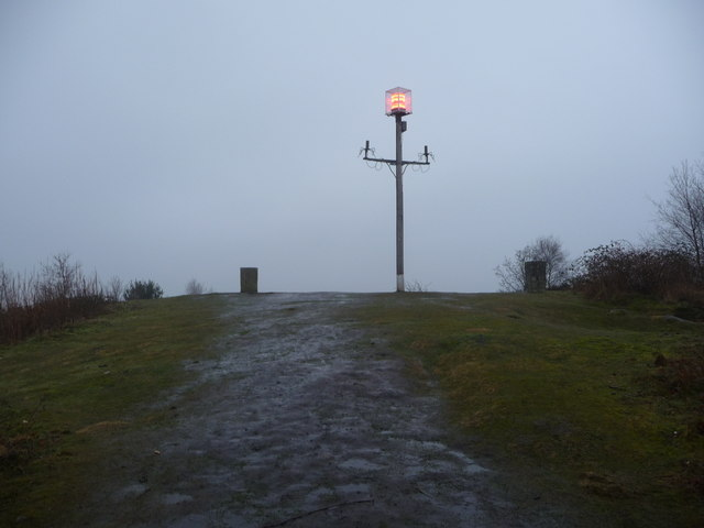The summit of Grinshill Hill in winter
