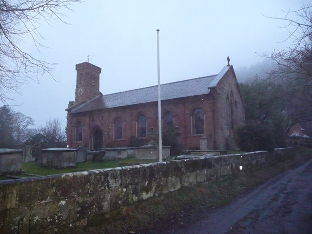 The church in Grinshill in winter