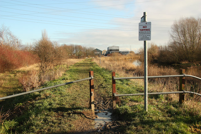 Witham-side footpath