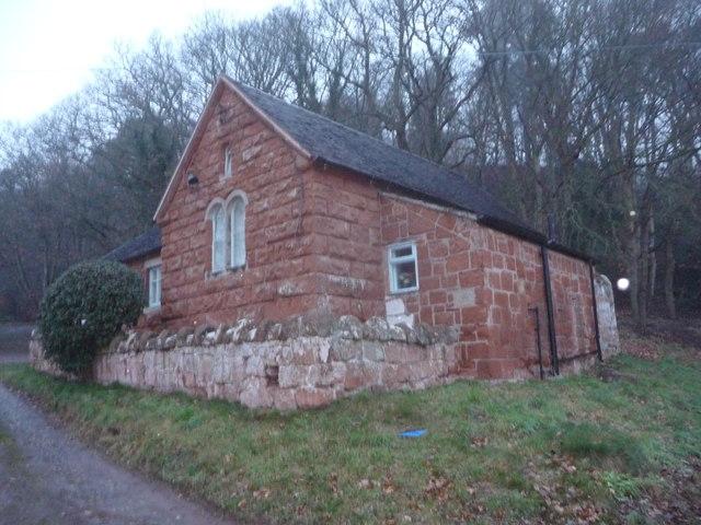 Grinshill village hall in winter