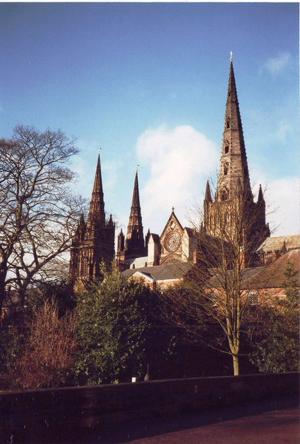 South side of Lichfield cathedral