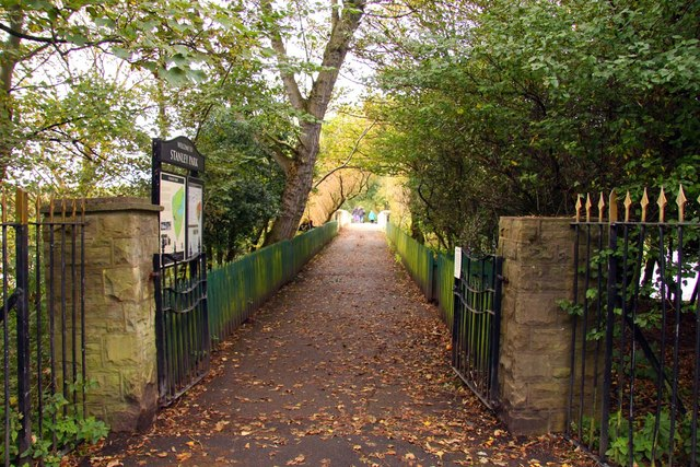 The entrance to Stanley Park