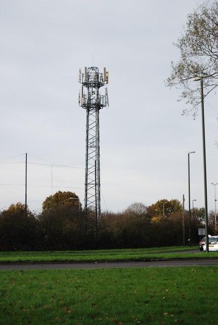 Telecommunication mast near Broadfield Stadium