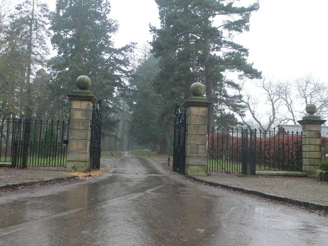 Gate entrance to Erddig Hall estate
