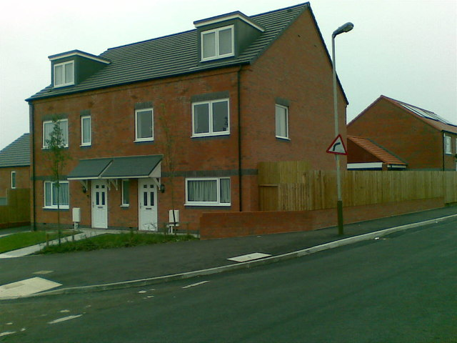 New houses, Stenson Road