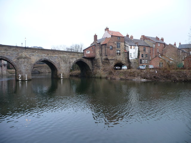 Elvet Bridge and Elvet Waterside
