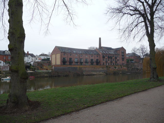 The old Kingsland Brewery beside the River Severn, Shrewsbury
