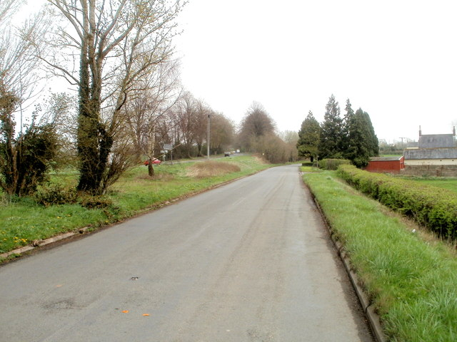 Western end of the road to Caerwent runs parallel with the A48