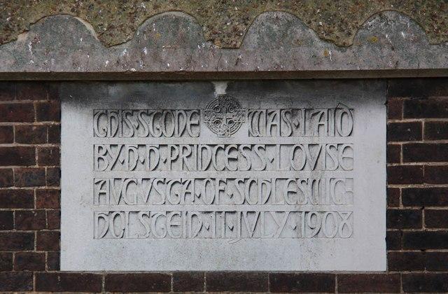 St Barnabas (Old church), Mitcham - Foundation stone