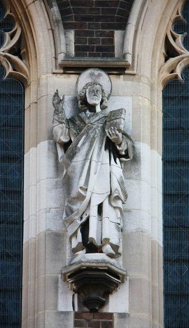 St Barnabas, Gorringe Park Avenue, Mitcham - Statue