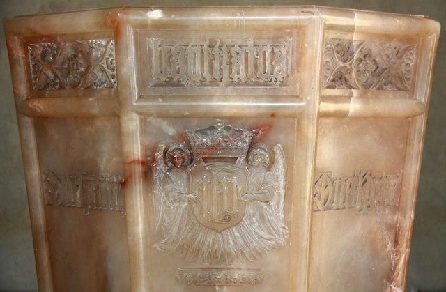 St Barnabas, Gorringe Park Avenue, Mitcham - Font detail