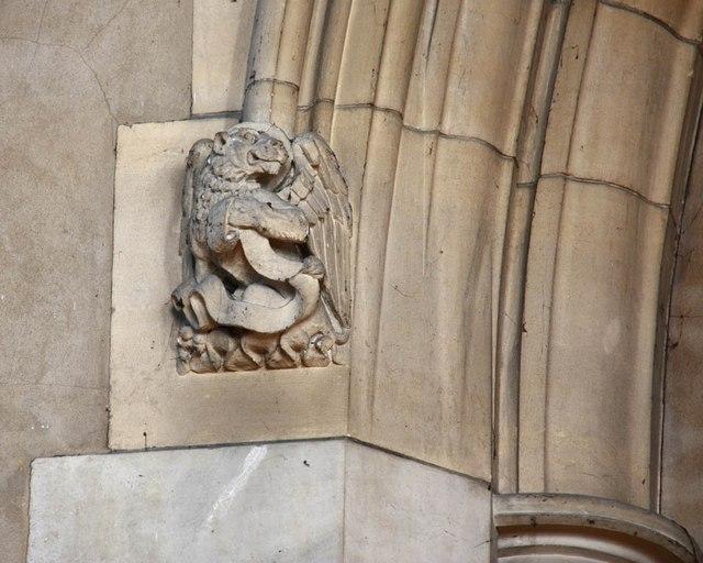 St Barnabas, Gorringe Park Avenue, Mitcham - Carving