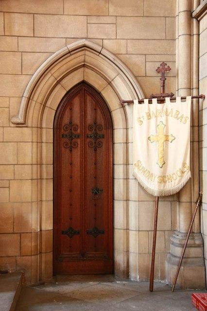 St Barnabas, Gorringe Park Avenue, Mitcham - Doorway