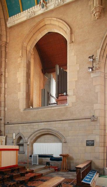 St Barnabas, Gorringe Park Avenue, Mitcham - Organ chamber