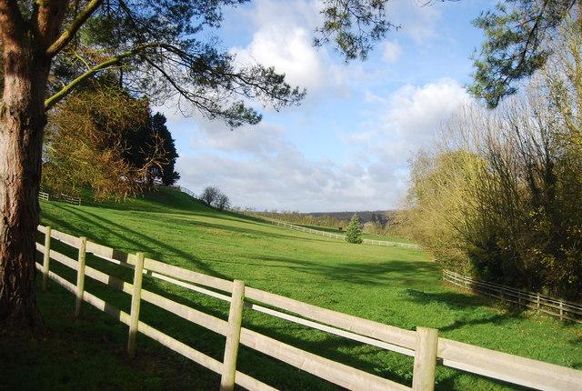 Farmland west of West Farleigh