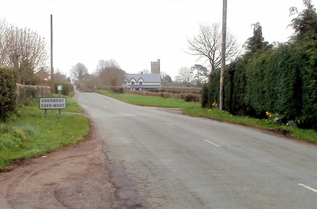 Western boundary of Caerwent